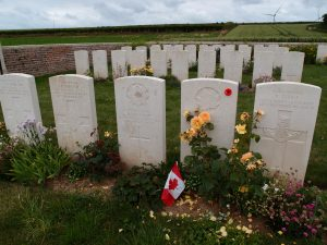 Graves in the Moeuvres Cemetery