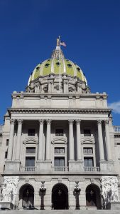 Exterior of the Pennsylvania State Capitol